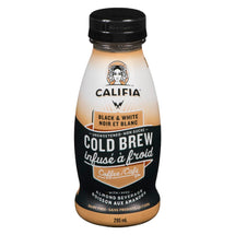CALIFIA FARMS BLACK AND WHITE COLD BREW COFFEE WITH ALMOND BEVERAGE 295ML