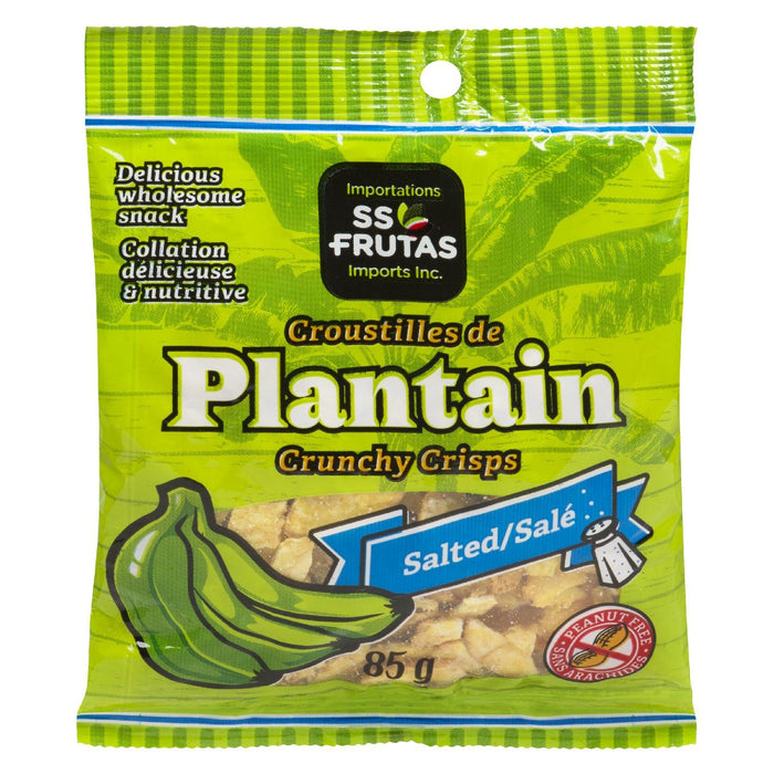 SS FRUTAS PLANTAIN CRISPS CRUNCHY SALTED 85 G