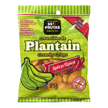 SS FRUTAS, PLANTAIN CRISPS CRUNCHY SPICY CASE, 50 X 85 G