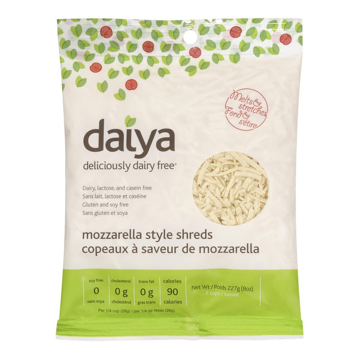 DAIYA CHEESE SHREDS DAIRY FREE MOZZARELLA 227 G