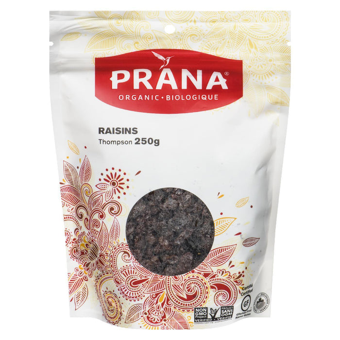 PRANA RAISINS THOMPSON ORGANIC 250 G