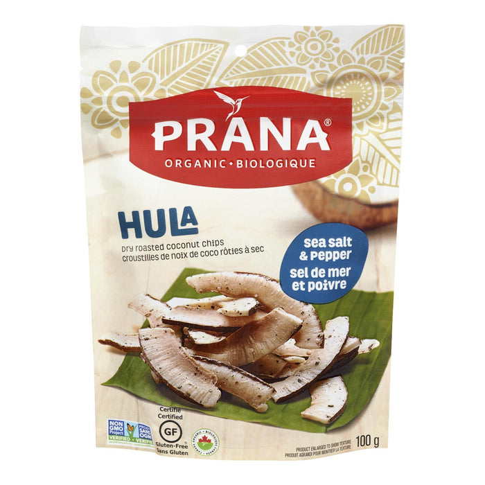 PRANA COCONUT CHIPS SEA SALT PEPPER ORGANIC 100 G