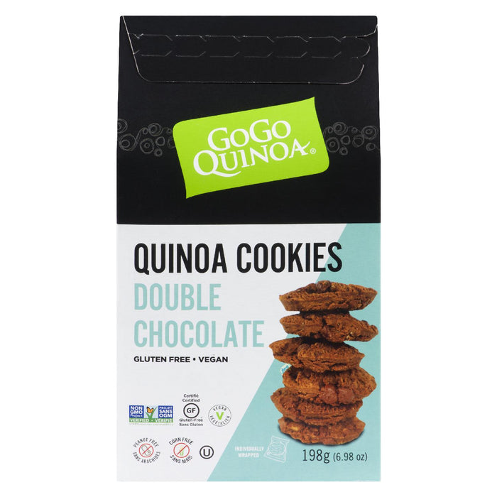 GOGO QUINOA COOKIES DOUBLE CHOCOLATE GLUTEN FREE VEGAN 198G