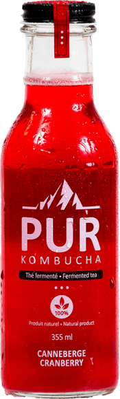 PUR KOMBUCHA CRANBERRY 355ML
