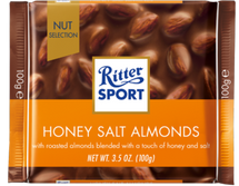 RITTER SPORT CHOCOLATE HONEY SALT ALMONDS 100G