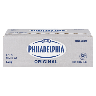 PHILADELPHIA CHEESE CREAM BRICK ORIGINAL, 1.5KG