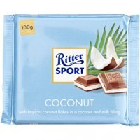 RITTER SPORT MILK CHOCOLATE COCONUT 100G