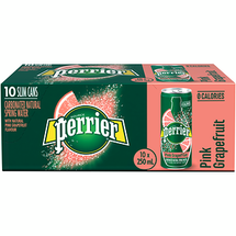 PERRIER CARBONATED SPRING WATER, GRAPEFRUIT, 10 X 250ML