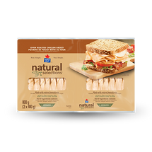 NATURAL SELECTIONS SLICED CHICKEN BREAST, 2 X 400G