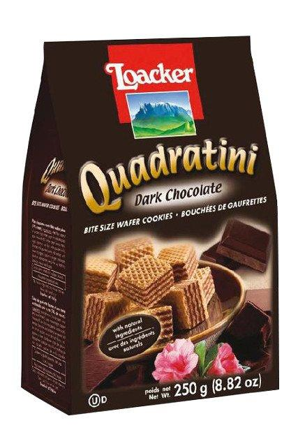 LOACKER QUADRATINI WAFER COOKIES BITE DARK CHOCOLATE +50G FREE 300 G