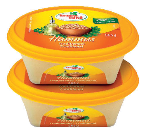 FONTAINE SANTE HUMMUS TRADITIONAL, 2 X 565G