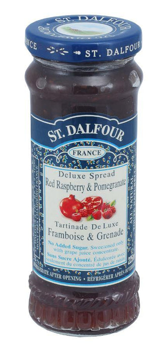 ST DALFOUR RASBERRY AND POMEGRANATE JAM 225ML