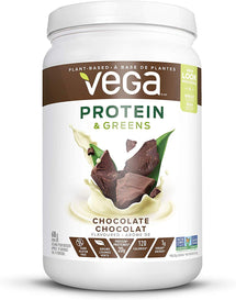 VEGA ORGANIC PROTEIN AND GREEN CREAMY CHOCOLATE POWDER, 618G