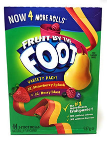 BETTY CROCKER FRUIT BY THE FOOT SNACKS VARIETY PACK, 44UN