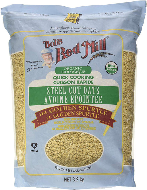 BOB'S RED MILL STEEL CUT OATS ORGANIC, 3.2KG