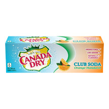 CANADA DRY, CLUB SODA ORANGE MANDARIN, 12 x 355 ML