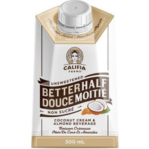 CALIFIA FARMS UNSWEETENED BETTERHALF COCONUT CREAM AND ALMOND BEVERAGE FOR COFFEE 500ML