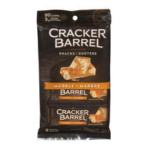 CRACKER BARREL, MARBLE CHEDDAR CHEESE SNACKS, 8 X 21G