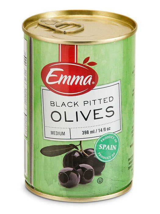 EMMA OLIVES BLACK PITTED 398 ML