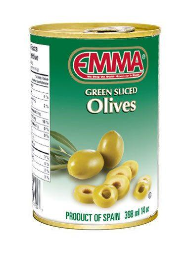 EMMA OLIVES GREEN SLICED 398 ML