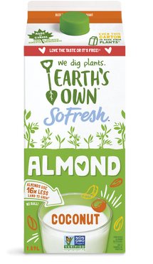 EARTH'S OWN, ALMOND FRESH COCONUT BEVERAGE 1.89 L