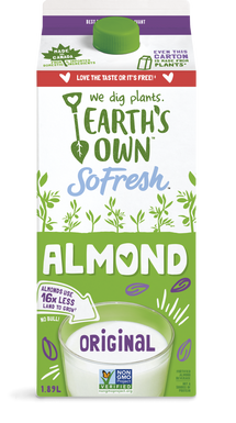EARTH'S OWN, ALMOND FRESH ORIGINAL BEVERAGE 1.89 L