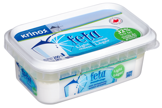 KRINOS FETA CHEESE LIGHT 200 G