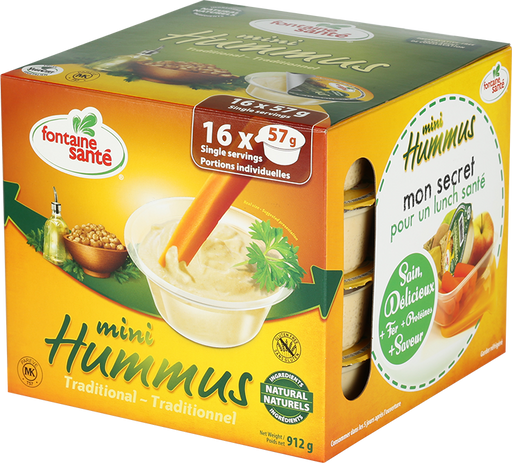 FONTAINE SANTE HUMMUS MINI TRADITIONAL, 16 X 57G