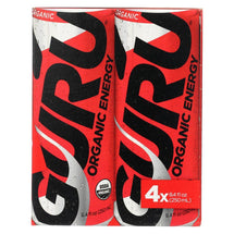GURU ENERGY DRINK  4 X 250ML