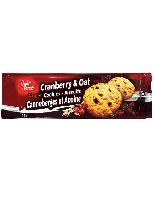 LADY SARAH CRANBERRY AND OATMEAL COOKIES 115G