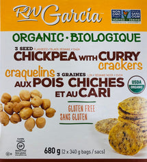 RW GARCIA CHICKPEA WITH CURRY CRACKERS, 680G