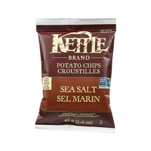 KETTLE POTATO CHIPS INDIVIDUAL PORTIONS - SEA SALT CHIPS - 24X45G