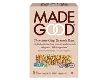MADE GOOD ORGANIC CHOCOLATE CHIP GRANOLA BARS 24 X 24G