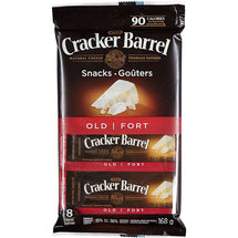 CRACKER BARREL, OLD WHITE CHEDDAR CHEESE SNACKS, 8 X 21G