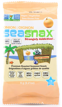 SEA SNAX ORGANIC SEASNAX - GRAB & GO - GRAB&GO - TOASTY ONION - 16X5G