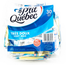 P'TIT QUEBEC CHEDDAR CHEESE SNACKS, 30 X 21G