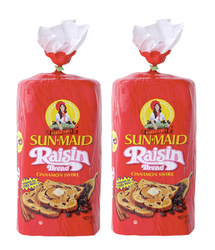 SUNMAID BREAD RAISIN CINNAMON SWIRL, 3 X 450 G