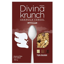 DIVINA KRUNCH CEREAL TRIPLE CHOCOLATE 400 G