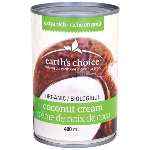 EARTH'S CHOICE ORGANIC COCONUT CREAM 400ML