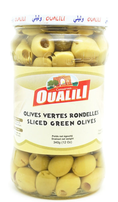 OUALILI OLIVES GREEN RINGS 340 G
