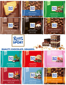 RITTER SPORT CHOCOLATE, BUNDLE OF 10 ASSORTED NUT FLAVORS 100G