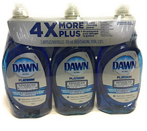 DAWN ULTRA PLATINUM ADVANCED POWERDISHWASHING LIQUID, PACK OF 3 X 709 ML
