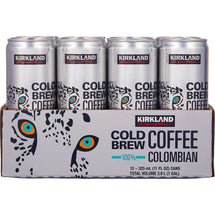 KIRLAND SIGNATURE, COLOMBIAN COLD BREW COFFEE, 12 X 325ML