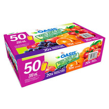 OASIS 100% JUICE, ASSORTED FLAVOURS 50 X 200ML