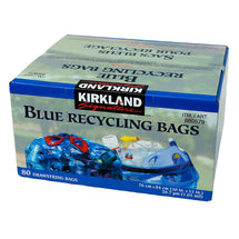 KIRKLAND SIGNATURE BLUE RECYCLING BAGS, PACK OF 80