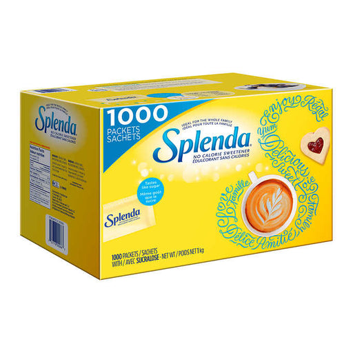 SPLENDA  NO CALORIE SWEETENER PACKETS 1000 X 1G
