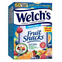 WELCH'S FRUIT SNACKS, VALUE PACK 60 X 22G