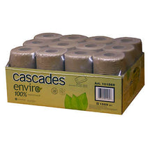 CASCADES ENVIRO BROWN PAPER TOWEL ROLLS, PACK OF 12