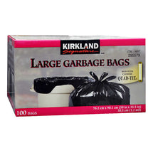 KIRKLAND SIGNATURE LARGE GARBAGE BAGS, PACK OF 100