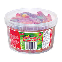 RED BAND JUMBO SOUR SUCKERS TUB, 60 SUCKERS